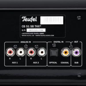 Teufel Cinebar 51 THX Soundbar Anschlüsse von Hinten